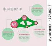 vector info graphic template.... | Shutterstock .eps vector #492938347