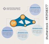 vector info graphic template.... | Shutterstock .eps vector #492938377
