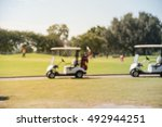 blurred image of electric golf... | Shutterstock . vector #492944251