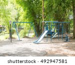 a swing and slider  toy... | Shutterstock . vector #492947581