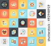 flat conceptual icons pack of... | Shutterstock .eps vector #492948919