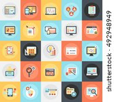 flat conceptual icons pack of... | Shutterstock .eps vector #492948949