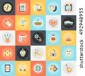 flat conceptual icons pack of... | Shutterstock .eps vector #492948955