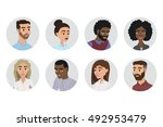 people avatars collection.... | Shutterstock .eps vector #492953479