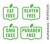 fat  gluten  gmo  paraben free... | Shutterstock .eps vector #492954154
