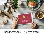 shipping logistic delivery... | Shutterstock . vector #492955951