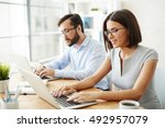 successful office workers | Shutterstock . vector #492957079