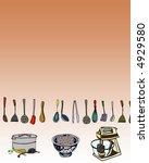 cooking utensils illustration | Shutterstock . vector #4929580
