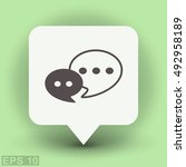 pictograph of message or chat | Shutterstock .eps vector #492958189
