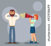 negative emotions concept.... | Shutterstock .eps vector #492958699