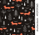 seamless christmas pattern ... | Shutterstock .eps vector #492959365