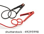 red and black jumper cables | Shutterstock . vector #49295998
