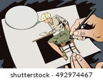 stock illustration. people in... | Shutterstock .eps vector #492974467