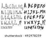 hand drawn alphabet letters... | Shutterstock .eps vector #492978259
