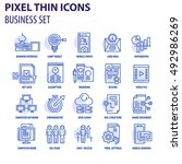 thin line flat icons pack for...