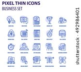 thin line flat icons pack for... | Shutterstock .eps vector #492986401