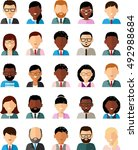 set of business avatar peoples... | Shutterstock .eps vector #492988684