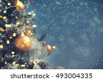 christmas background  | Shutterstock . vector #493004335