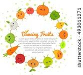 vector happy dancing vegetables ...   Shutterstock .eps vector #493011271