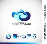 cloud computing storage data... | Shutterstock .eps vector #493015201