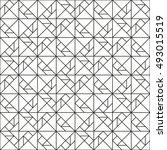 tangram puzzle pattern  line... | Shutterstock .eps vector #493015519