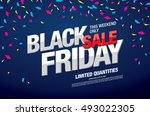 black friday sale banner | Shutterstock .eps vector #493022305