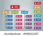 colorful rectangle organization ... | Shutterstock .eps vector #493031107