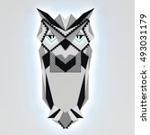 geometric  owl | Shutterstock . vector #493031179