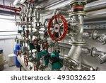 office building heating system... | Shutterstock . vector #493032625