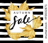 """autumn sale"" hand written... 