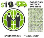 global partnership icon with...   Shutterstock .eps vector #493036084