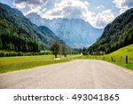 road through alps.   Shutterstock . vector #493041865