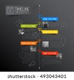 vector infographic timeline... | Shutterstock .eps vector #493043401