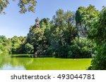 parc des buttes chaumont  ... | Shutterstock . vector #493044781