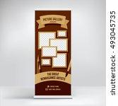 banner design for art gallery... | Shutterstock .eps vector #493045735