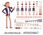 smart casual male character... | Shutterstock .eps vector #493054867