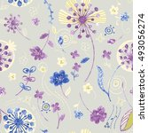 vivid repeating floral   for...   Shutterstock . vector #493056274