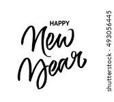happy new year brush... | Shutterstock .eps vector #493056445