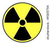 black and yellow nuclear... | Shutterstock .eps vector #49305754