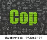 law concept  painted green text ... | Shutterstock . vector #493068499