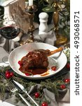 Small photo of pork shank braised in its own juices with rosemary and red wine restaurant supply