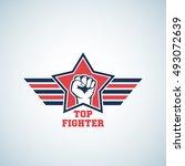 top fighter abstract vector... | Shutterstock .eps vector #493072639