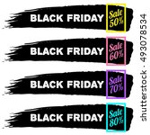 black friday sale banners | Shutterstock .eps vector #493078534