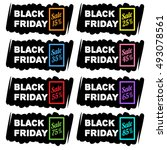 black friday sale banners | Shutterstock .eps vector #493078561