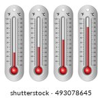 thermometers with different... | Shutterstock .eps vector #493078645
