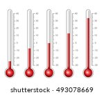 thermometers with different... | Shutterstock .eps vector #493078669