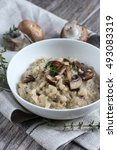 Bowl Of Mushroom Risotto...