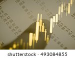 business graph with arrow... | Shutterstock . vector #493084855