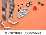 fashion design outfit.... | Shutterstock . vector #493092295