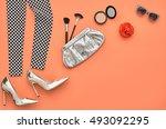 fashion woman accessories set.... | Shutterstock . vector #493092295